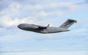 Picture UNITED STATES AIR FORCE, military transport aircraft, Boeing C-17 Globemaster III, American strategic