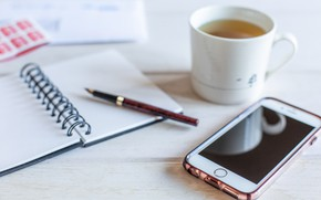 Picture tea, handle, Notepad, phone