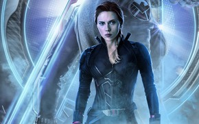 Picture look, pose, figure, figure, art, Black widow, Natasha Romanoff, The Avengers, The Avengers, Black widow
