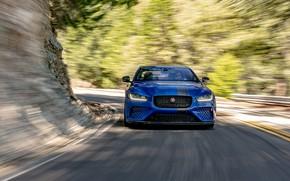 Picture Jaguar, Road, Speed, Lights, 2018, Jaguar XE SV Project 8, Jaguar XE