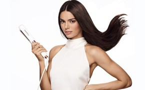 Picture look, girl, face, sweetheart, model, hair, makeup, beautiful, Kendall Jenner