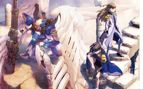 Picture robot, wings, guys, Mobile Suit Gundam