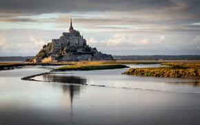 Picture landscape, nature, Mont Saint Michel