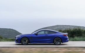 Picture movement, coupe, BMW, side, 2019, BMW M8, M8, M8 Competition Coupe, M8 Coupe, F92
