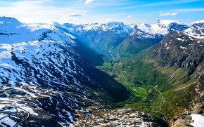 Picture Nature, Mountains, Snow, Norway, Landscape, Ålesund, Dalsnibba