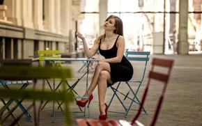 Picture sexy, pose, dress, shoes, studs, legs, beauty, Alba Mendoza