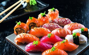 Picture fish, sushi, rolls