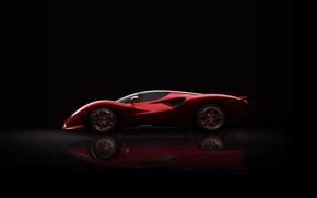 Picture supercar, side view, De Tomaso, 2019, P72