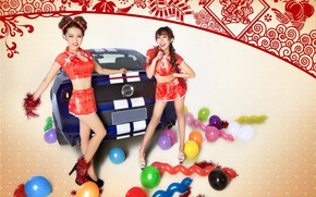 Picture auto, look, Ford, Girls, Asian girls, beautiful girls, have fun
