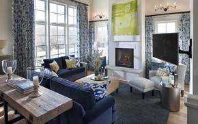 Picture interior, fireplace, living room, Nashville