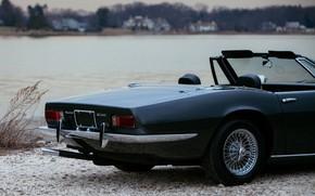Picture black, Maserati, 1969, Roadster, spider, the rear part, Ghibli Spider