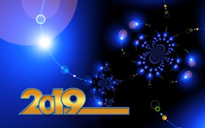 Picture lights, background, New year, illustration, 2019