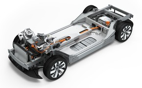 Picture bosch, electric car, battery, engineering, car chassis