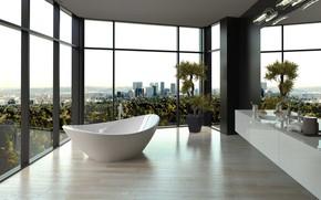 Picture room, interior, bathroom