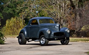 Picture Hot Rod, Coupe, Custom, Willys, Gasser, Vehicle, Old car