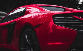 Picture drops, McLaren, supercar, sports, side view, drops, side-view