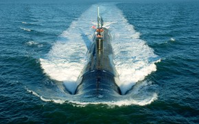 Picture submarine, submarine, position, surface