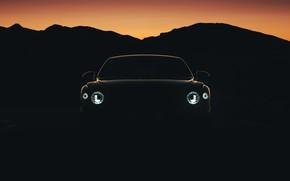 Picture lights, Bentley, twilight, Flying Spur, 2020, Blackline