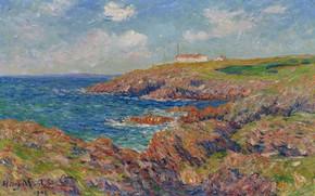 Picture landscape, picture, Henri Sea, Henry Moret, The Semaphore. Cote de Bretagne