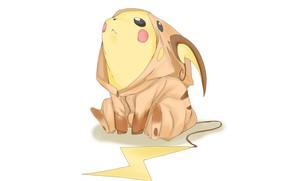 Picture Pikachu, Pokemon, suit