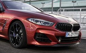 Picture coupe, BMW, Coupe, 2018, the front part, 8-Series, dark orange, M850i xDrive, Eight, G15