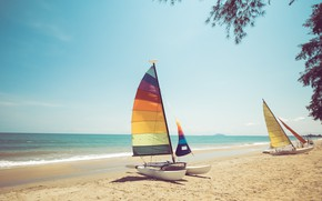 Picture sand, sea, wave, beach, summer, boat, sailboat, summer, beach, sea, blue, seascape, sand, wave, boat