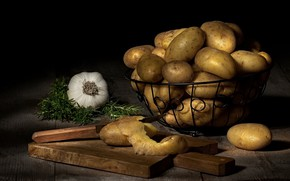 Picture knife, potatoes, tubers