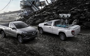 Wallpaper Mitsubishi, body, pickup, equipment, Single Cab, L200, Triton, 2019
