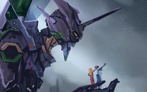 Picture people, robot, Evangelion, Evangelion