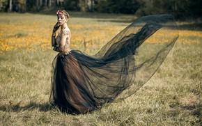 Picture field, girl, Lera