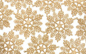Picture winter, snowflakes, background, New Year, Christmas, golden, Christmas, winter, background, New Year, snowflakes