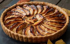 Picture autumn, pie, fruit pie