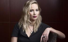 Picture look, pose, makeup, actress, look, pose, actress, Jennifer Lawrence, Jennifer Lawrence, makeup