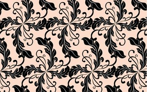 Picture background, pattern, Black, background, pattern, leaves