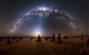 Picture The moon, Australia, The milky way, Moon, Australia, Milky Way, Michael Goh, zodiac light, зодиакальный …