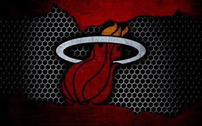 Picture wallpaper, sport, logo, basketball, NBA, Miami Heat