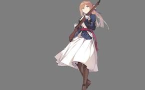 Picture girl, weapons, anime, art, girls frontline