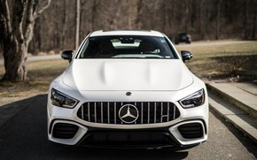 Picture CLS, Light, Mercedes, AMG, White, Autumn, Sight