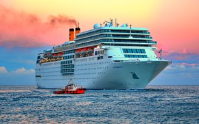 Picture sea, boat, liner