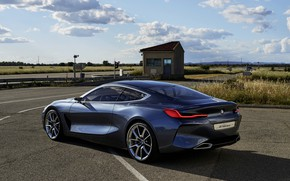Picture asphalt, coupe, BMW, side view, 2017, 8-Series Concept