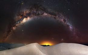 Picture the sky, night, the dunes, stars, Australia, the milky way, Milky Way, Western Australia, Nambung …