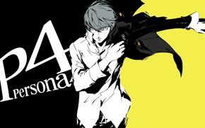 Picture look, background, the game, anime, art, guy, Persona 4, Person 4