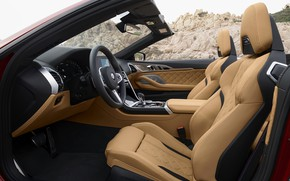 Picture devices, BMW, the wheel, convertible, seat, 2019, BMW M8, M8, F91, M8 Competition Convertible, M8 …