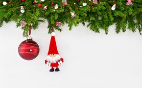 Picture branches, ball, Christmas, ate, Santa, decor, Rights Reserved, LAIMDOTA GRIVANE