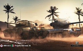 Picture WoT, World of Tanks, Wargaming, AMX 50 B, game art, Project M35, mod. 46