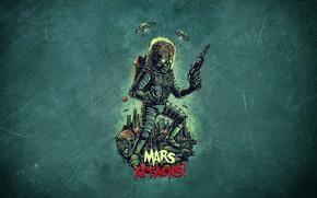 Picture Minimalism, Art, Helix, Mars Attacks!, Mars attacks, Mars attacks!, Martian, by Bogdan Timchenko, Bogdan Timchenko, ...