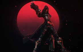Picture weapons, rendering, girl, overwatch, fiction, reaper