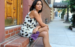 Picture look, pose, makeup, actress, singer, Rosario Dawson, hair, Rosario Dawson