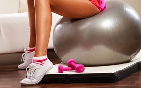 Picture legs, ball, fitness