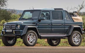 Picture car, machine, blue, street, Mercedes-Benz, large, SUV, turbo, Maybach, pickup, V12, wheel, 4x4, G-Class, Mercedes ...
